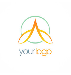 letter a loop company logo vector image