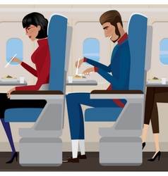 Lunch on the plane vector