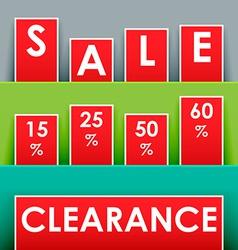 Sale advertisement vector image vector image