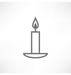 White candle vector image