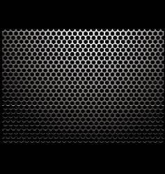 hexagon metal vector image vector image