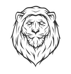 Lion head Line art style vector image vector image