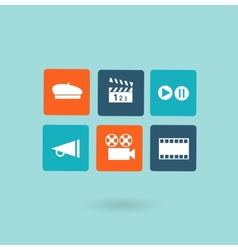 movie icon vector image vector image