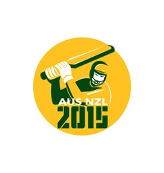 Cricket 2015 Australia New Zealand vector image
