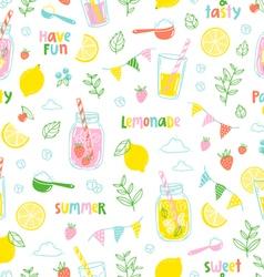 Lemonade party pattern vector image vector image