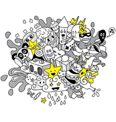 Party Doodle 2 vector image