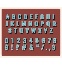 Retro type font vector image vector image