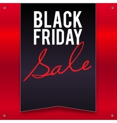 Black Friday sale large banner pennant flag on a vector image