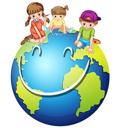Children and happy world vector