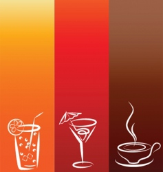 drinks background vector image vector image