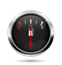 fuel gauge half tank vector image vector image