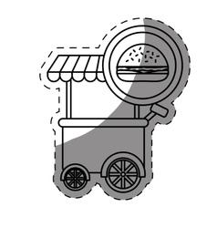hamburger car fast food icon vector image