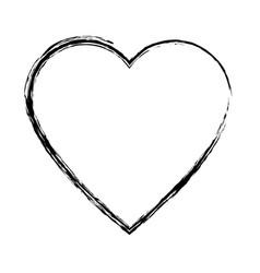 sketch heart health care love symbol vector image