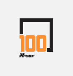 100 year anniversary square template design vector