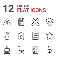 12 mark icons vector image