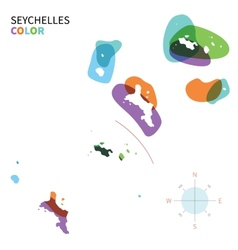 Abstract color map of Seychelles vector