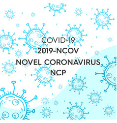 Abstract corona virus background vector
