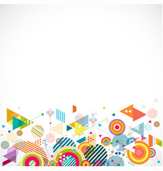 Abstract creative mix geometrical on bottom part vector