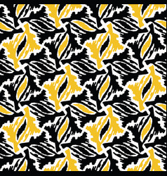 Abstract geo yellow shape grid hand drawn vector