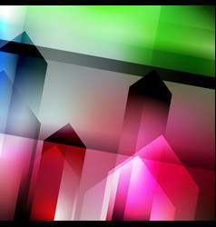 abstract geometric gems and crystals glowing vector image