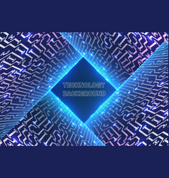 abstract glowing technology background vector image