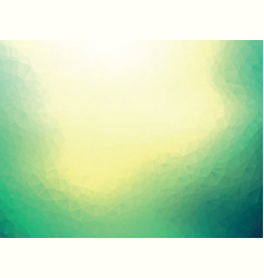 abstract green yellow geometric blur background vector image