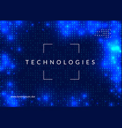 artificial intelligence background technology for vector image