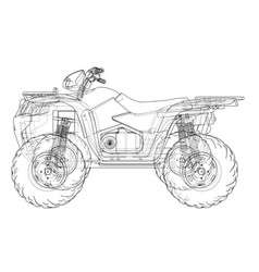 atv quadbike concept outline vector image