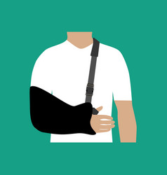 Bandage for the hand vector