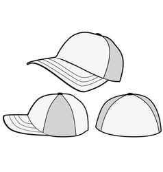 baseball hat or cap template vector image