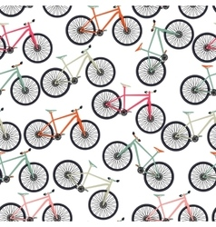 Bicycle Silhouette Seamless Pattern Background vector