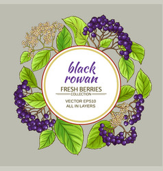 Black rowan frame vector