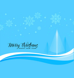 blue christmas beautiful scene background vector image