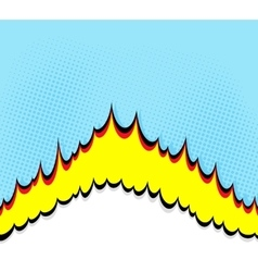 Boom Comic book explosion background vector