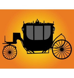 brougham silhouette vector image