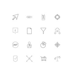 Business simple linear icons set outlined icons vector