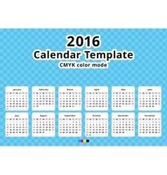 calendar 2016 year template vector image