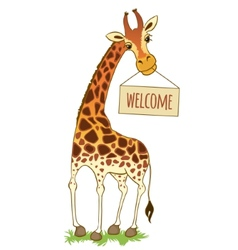 cartoon giraffe vector image