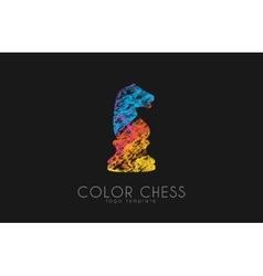 Chess horse ogo Chess logo Horse logo Creative vector