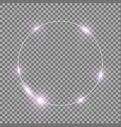 Circle of light purple color vector