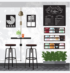 coffee amp cafe interiors vector image