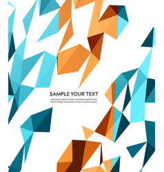 color abstract geometric banner with vector image