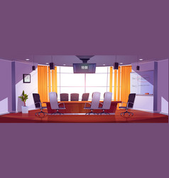 Conference room for business meetings vector