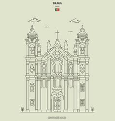 congregados basilica in braga portugal vector image