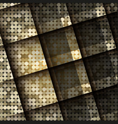 Dark color squares abstract background vector