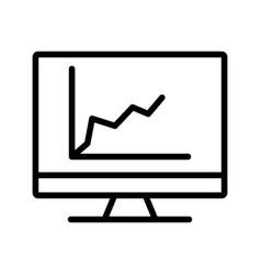 diagram on screen line black icon vector image