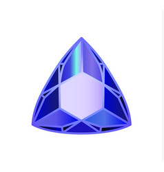 diamond precious stone trillion vector image