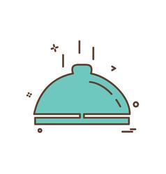 dish icon design vector image