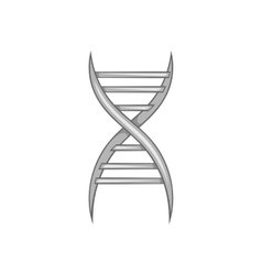 Dna strand icon black monochrome style vector
