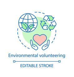 Environmental volunteering concept icon vector